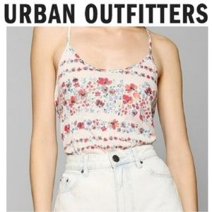 Urban Outfitters Floral Racerback Tank Top M